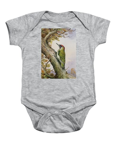 Green Woodpecker Baby Onesie by Carl Donner