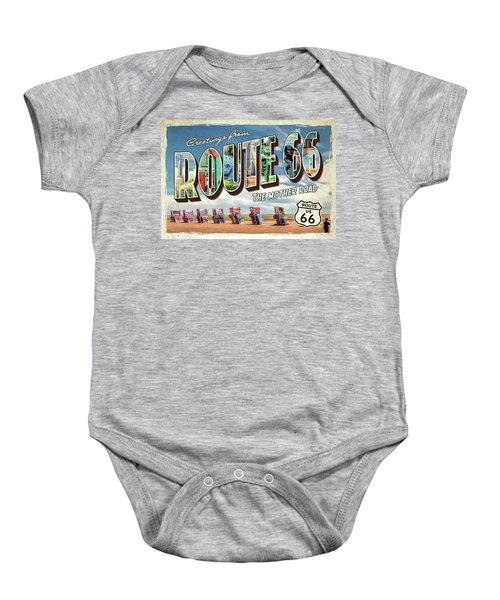 Greetings From Route 66 Baby Onesie