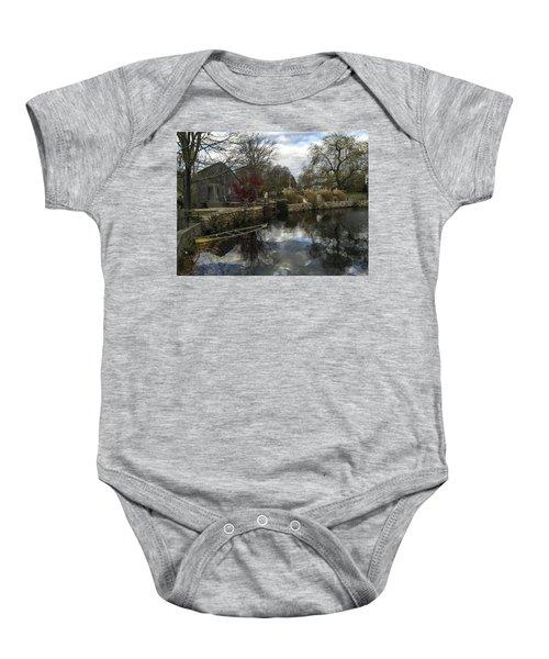 Grist Mill Sandwich Massachusetts Baby Onesie