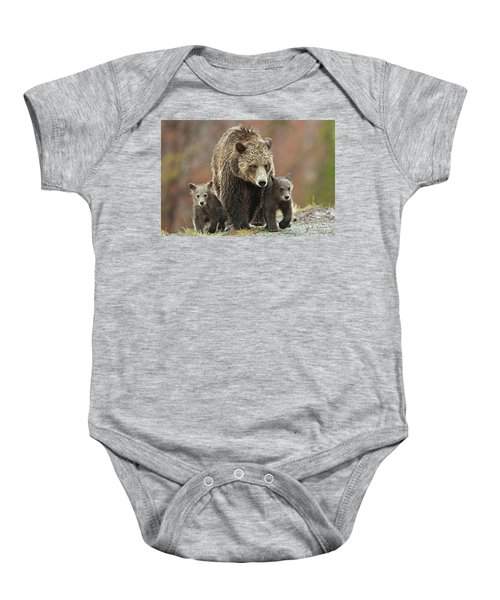 Grizzly Family Baby Onesie