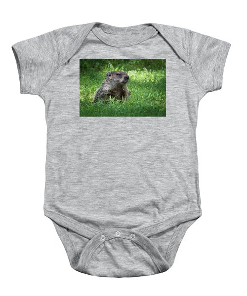 Groundhog Posing  Baby Onesie