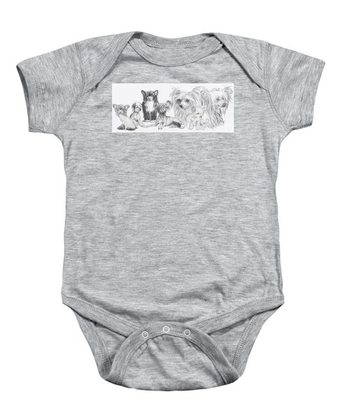 The Chinese Crested And Powderpuff Baby Onesie