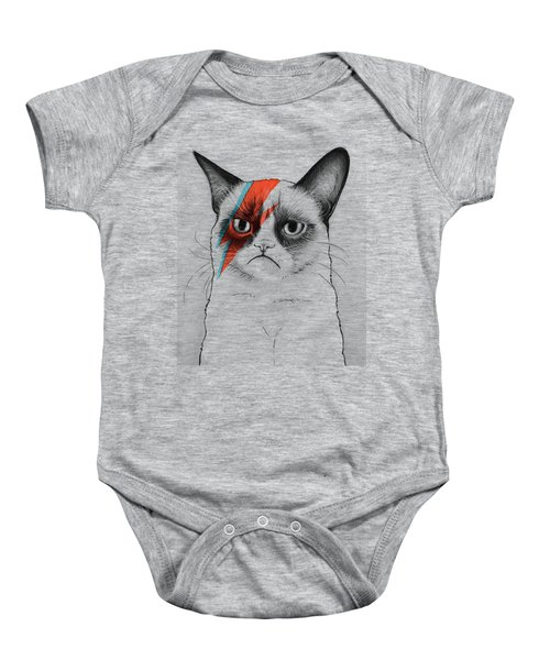 Grumpy Cat As David Bowie Baby Onesie