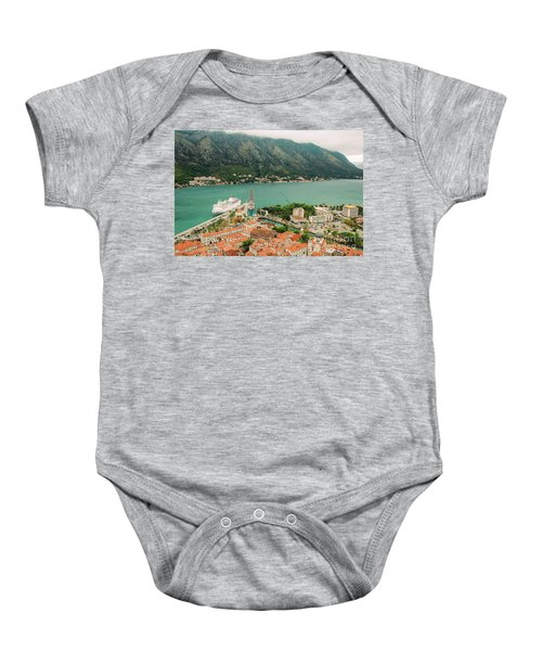 Gulf Of Kotor With Cruise Liner Baby Onesie