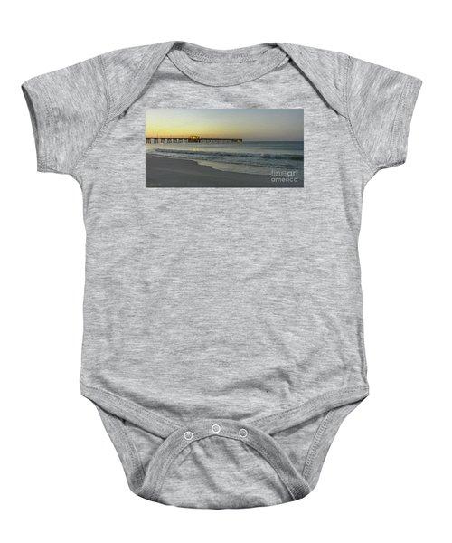 Gulf Shores Alabama Fishing Pier Digital Painting A82518 Baby Onesie