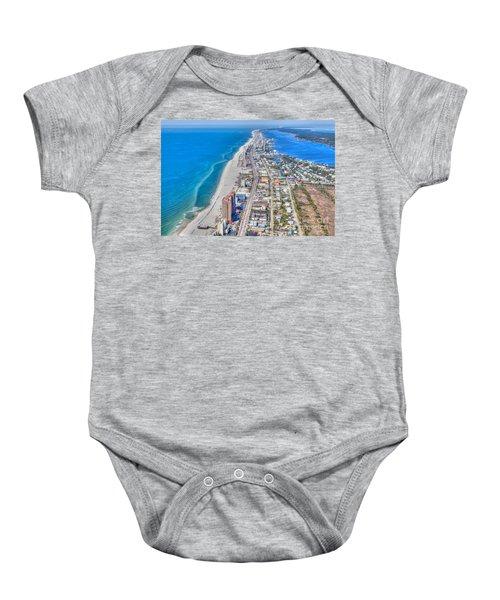 Gulf Shores Beach Looking W Baby Onesie