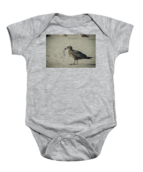 Gull And Feather Baby Onesie