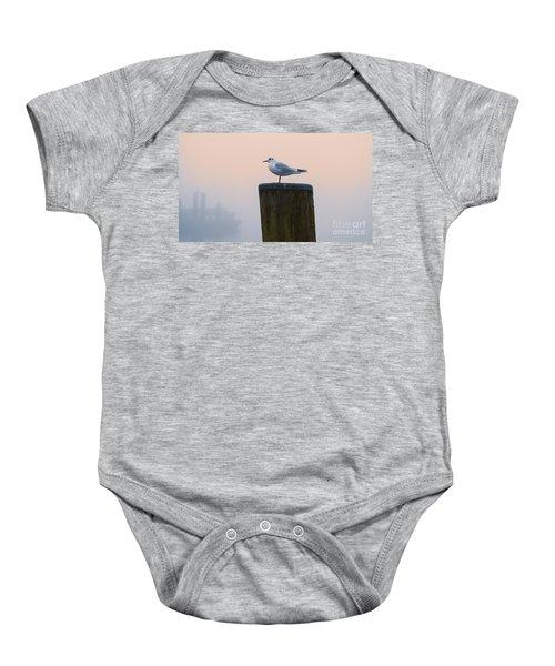 Gull And Fog Baby Onesie