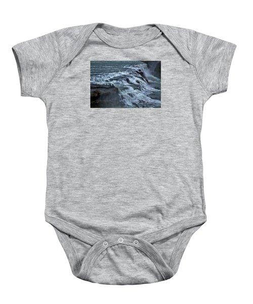 Gullfoss Waterfall #6 - Iceland Baby Onesie