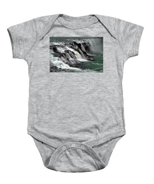 Gullfoss Waterfalls, Iceland Baby Onesie by Dubi Roman