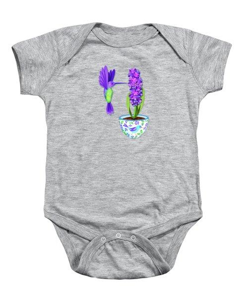 H Is For Hummingbird Baby Onesie