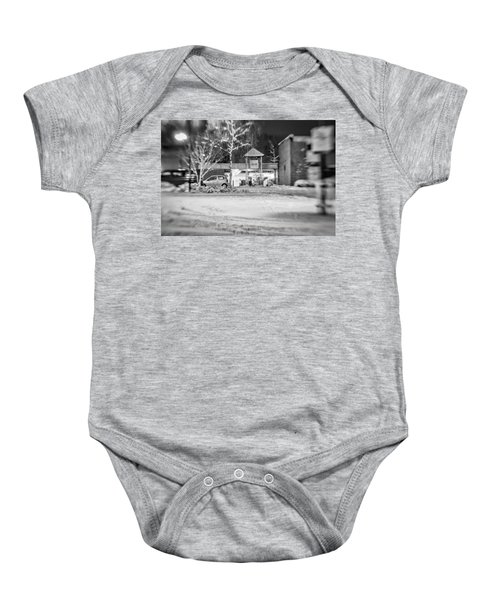 Hale Barns Square In The Snow Baby Onesie