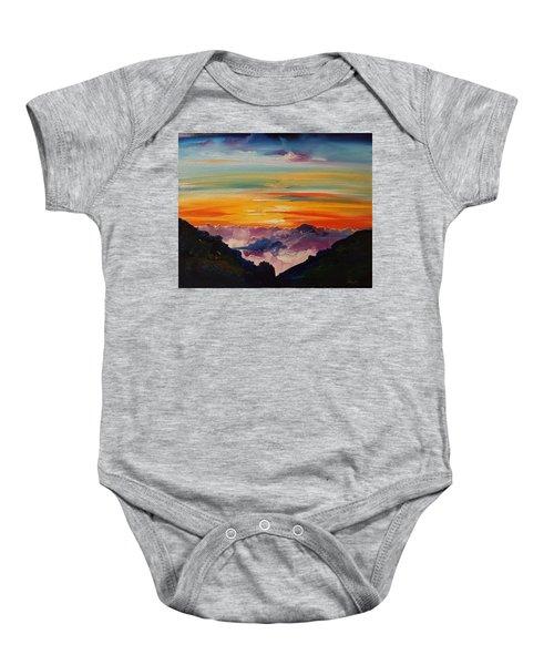 Haleakala Volcano Sunrise In Maui      101 Baby Onesie