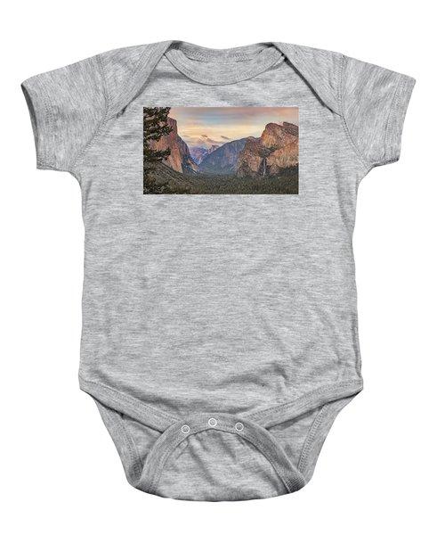 Yosemite Sunset Baby Onesie
