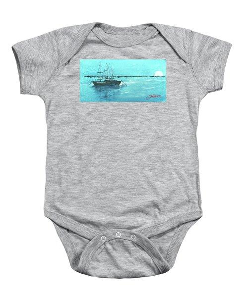 Half Moon Harbor Baby Onesie