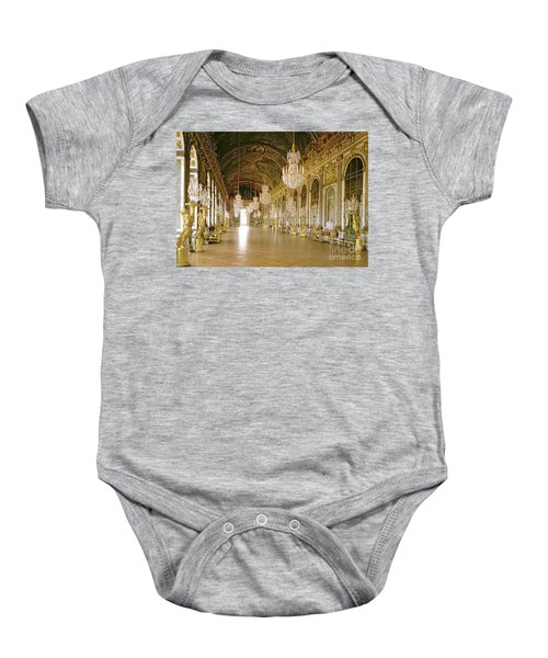 Hall Of Mirrors At The Chateau De Versailles Baby Onesie