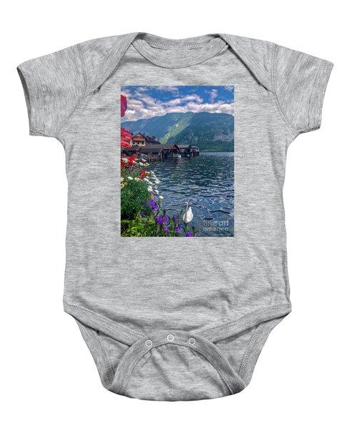 Hallstatt Swan Baby Onesie