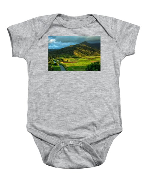 Hanalei Valley Taro Fields Baby Onesie