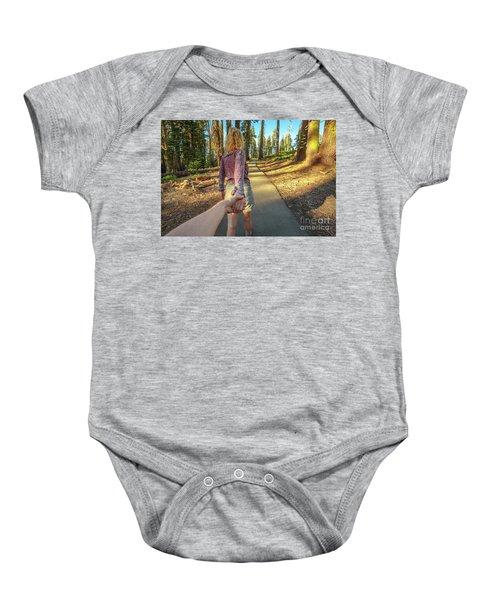 Hand In Hand Sequoia Hiking Baby Onesie