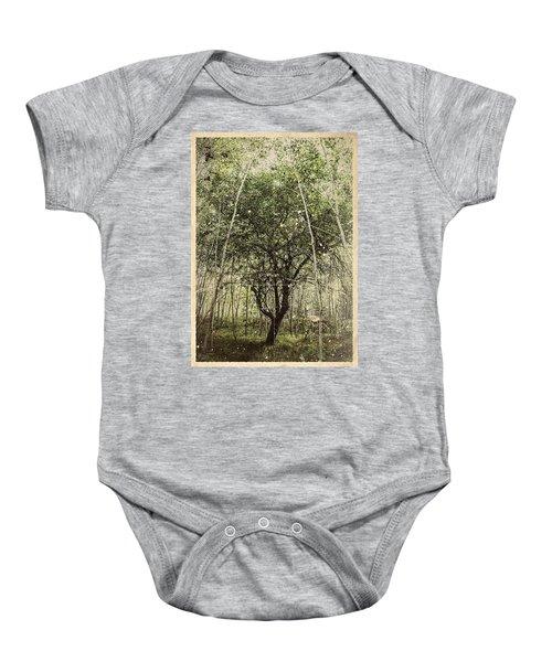 Hand Of God Apple Tree Poster Baby Onesie