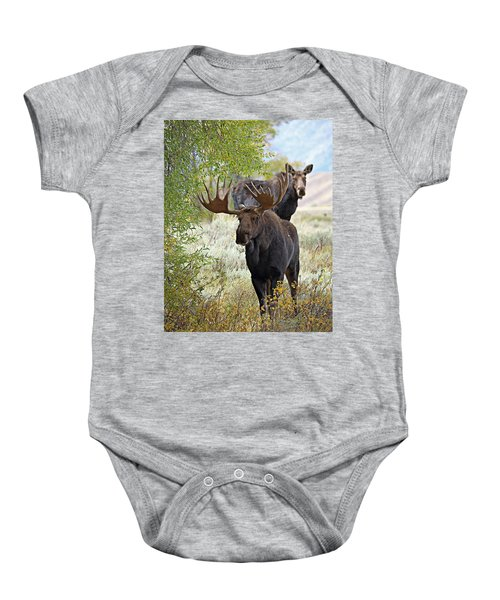 Handsome Bull With Cow Baby Onesie
