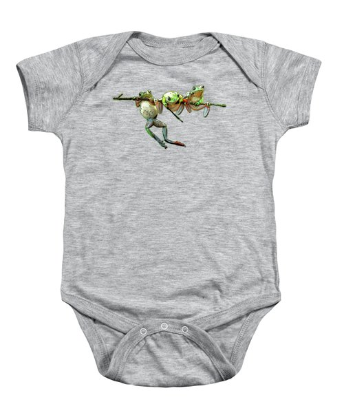 Hang In There Froggies Baby Onesie by Elaine Plesser
