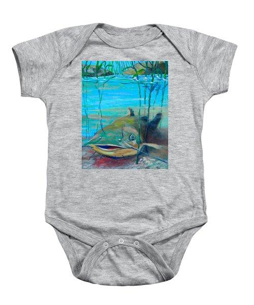 Happy Catfish Baby Onesie