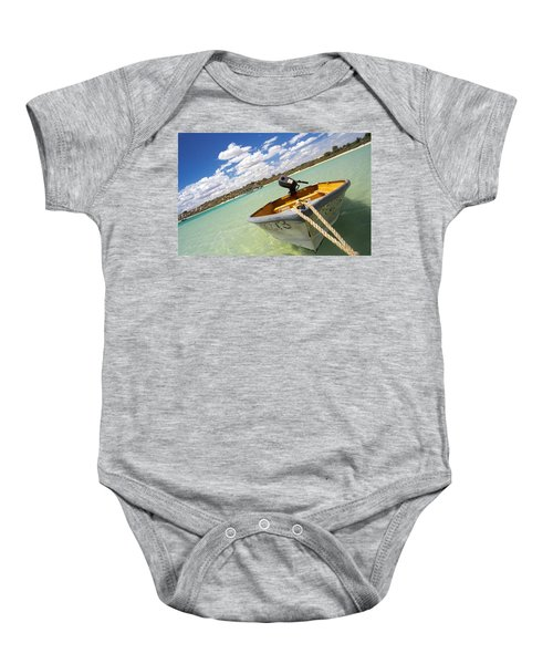 Happy Dinghy Baby Onesie