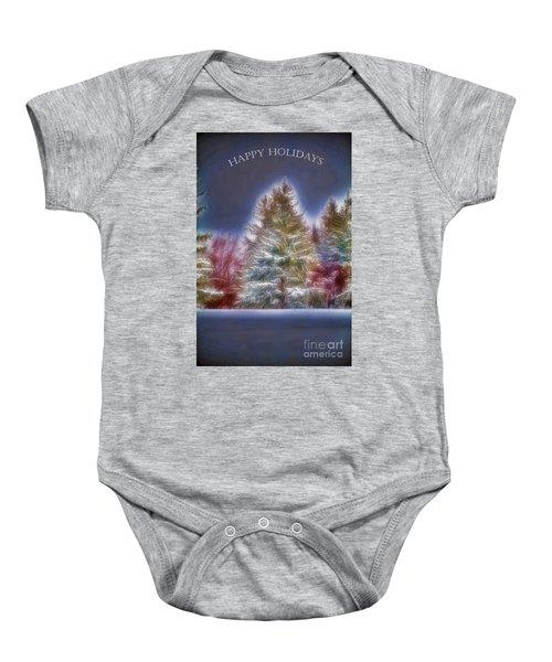 Happy Holidays Baby Onesie