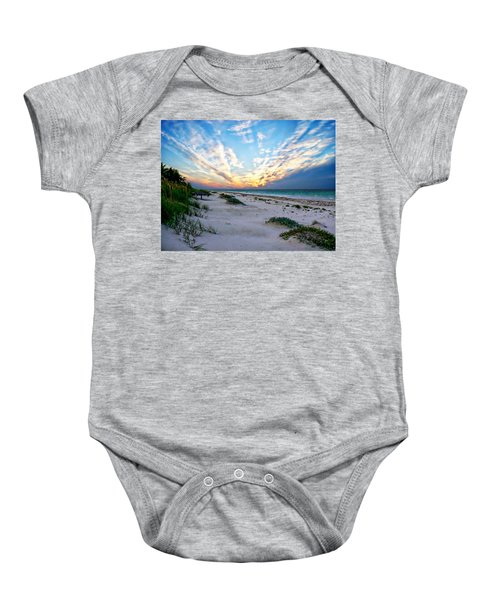 Harbor Island Sunset Baby Onesie