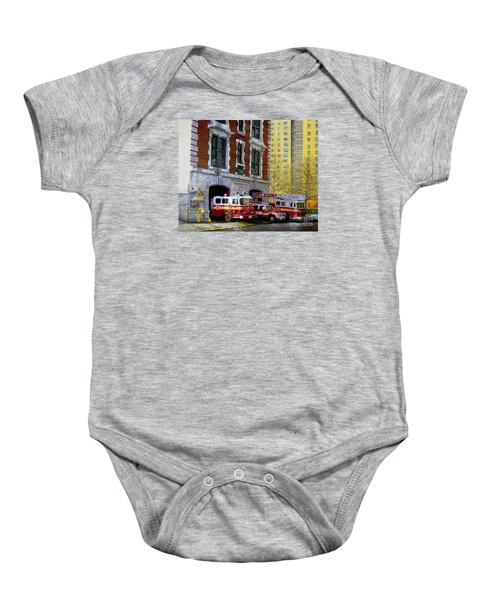 Harlem Hilton Baby Onesie by Paul Walsh
