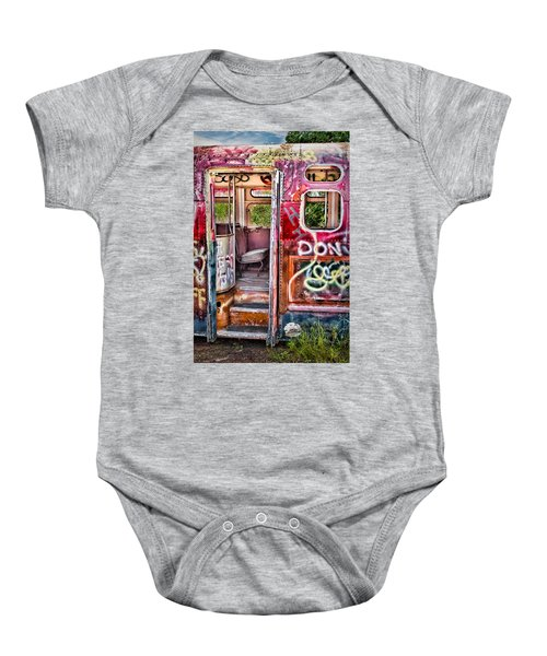 Haunted Graffiti Art Bus Baby Onesie