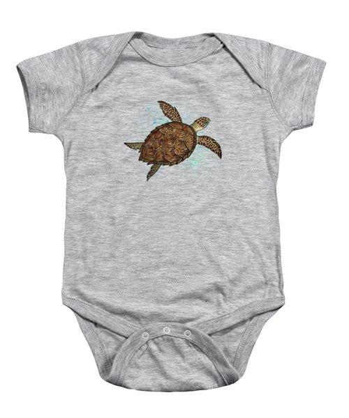 Hawksbill Sea Turtle Baby Onesie by Amber Marine