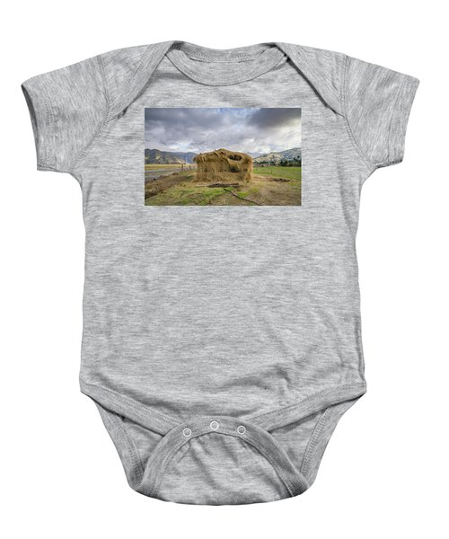 Hay Hut In Andes Baby Onesie