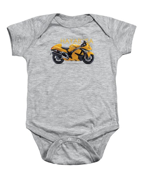 Hayabusa In Yellow Baby Onesie by Mark Rogan