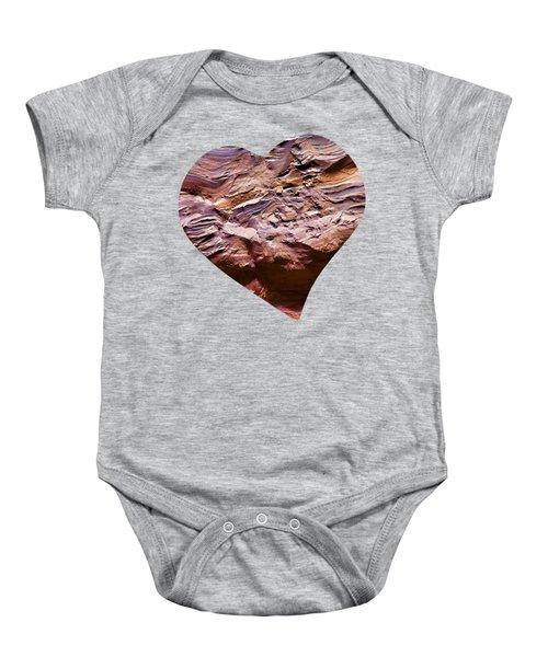 Heart Shape Stone Art Baby Onesie