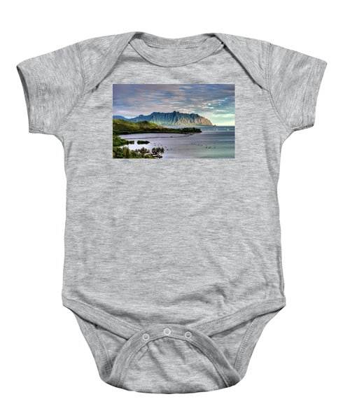 He'eia Fish Pond And Kualoa Baby Onesie