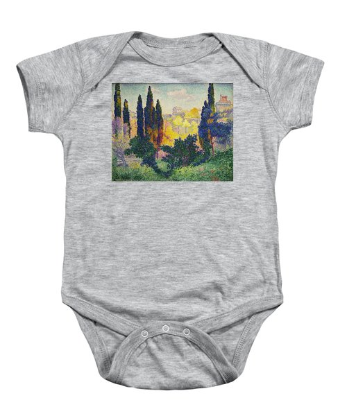 Henri Edmond Cross French Les Cypres A Cagnes Baby Onesie
