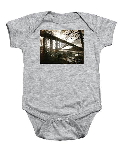Henry Hudson Bridge, 1936 Baby Onesie by Cole Thompson
