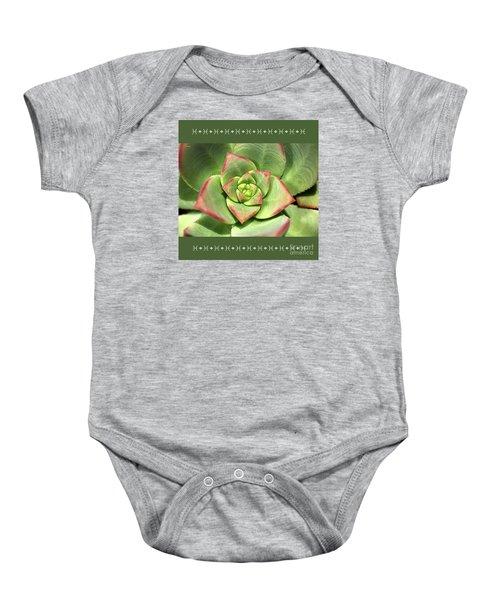 Hens And Chicks Succulent And Design Baby Onesie