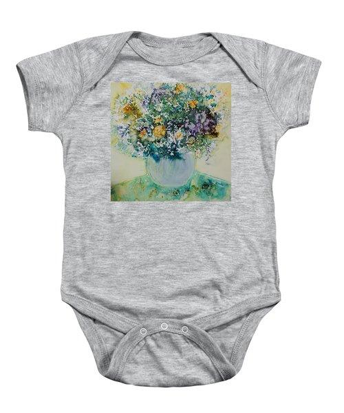 Herbal Bouquet Baby Onesie