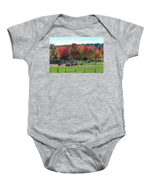 Heritage Farm In Easthampton, Ma Baby Onesie