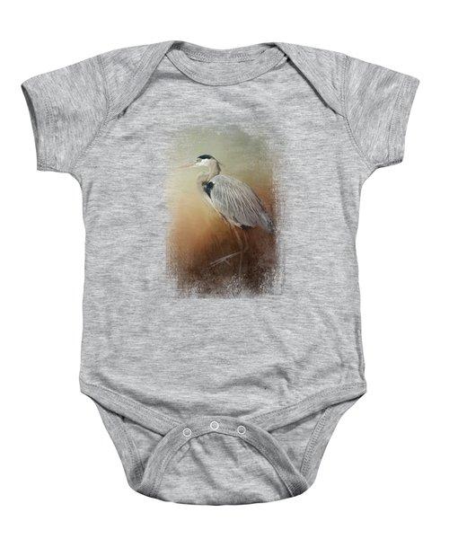 Heron At The Inlet Baby Onesie