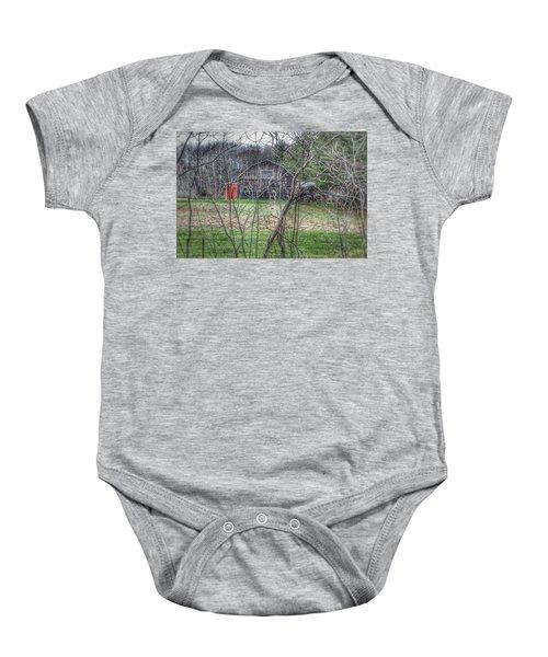 0019 - Hidden Capac Grey Baby Onesie