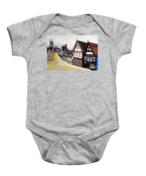 High Street Of Stamford In England Baby Onesie