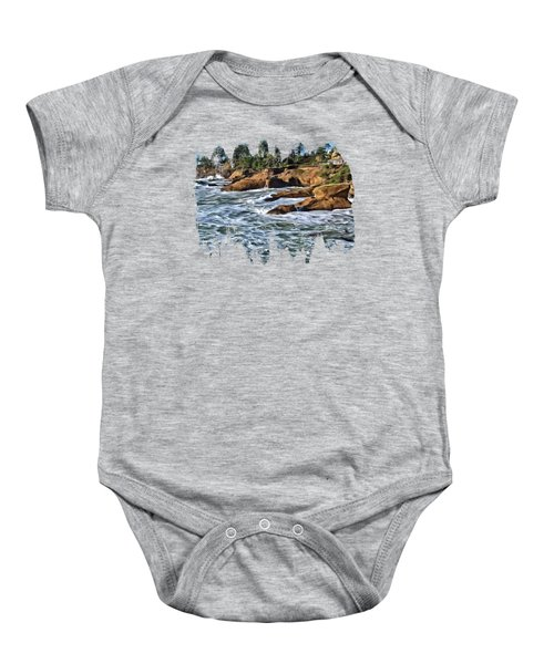 High Tide At Arch Rock Baby Onesie