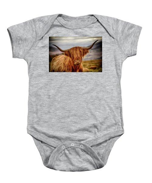 Highland Cow Baby Onesie
