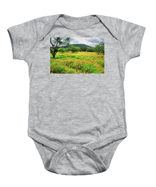 Hill Country Wildflowers Baby Onesie