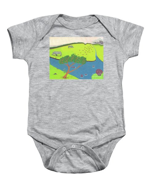 Hippo Awareness Baby Onesie