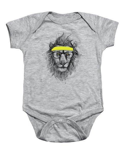 Hipster Lion Baby Onesie